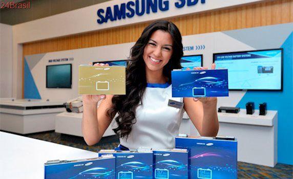 Samsung apresenta bateria para carros elétricos que promete 500km com 20 minutos de carga