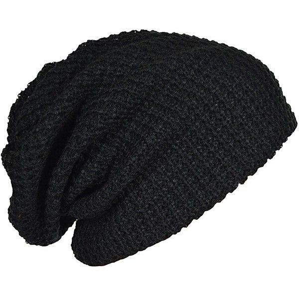 Amazon.com: FORBUSITE Mens Slouchy Long Beanie Knit Cap for Summer... ❤ liked on Polyvore featuring men's fashion, men's accessories, men's hats, mens beanie hats, mens slouch beanie, mens knit hats, mens caps and mens sports hats