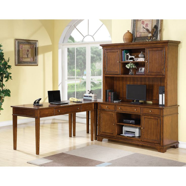 Riverside Marston L Shaped Computer Desk With Optional