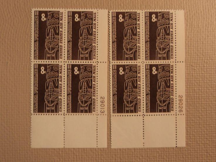 USPS Scott C70 8c Alaska Purchase 1867-1967 Lot Of 2 Plate Block Mint NH -- New