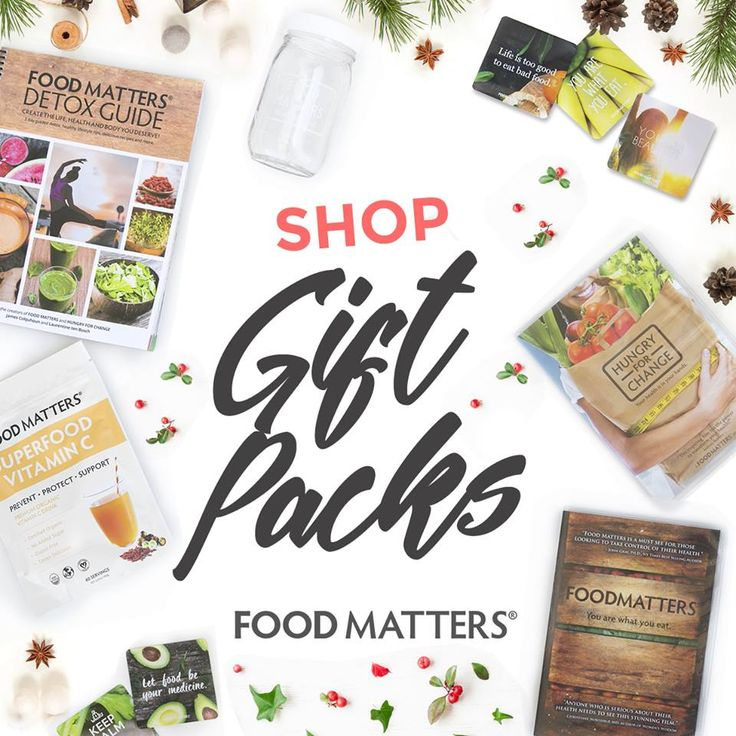 Take the stress out of gift shopping and check out our NEW Food Matters Gift Packs! Plus get 10-30% off our best-selling products! Order now to receive in time for Christmas.   Browse our Food Matters Holiday Gift Shop here: http://bit.ly/FM-Holiday-Shop