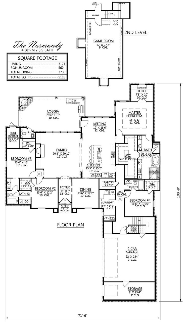 41 best Houseplans images on Pinterest | Acadian house plans, French ...