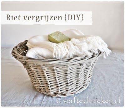 #verftechnieken #riet #rattan - DIY Rustic Rattan - www.verftechnieken.nl