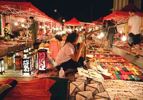 Night market in Can Tho, Vietnam