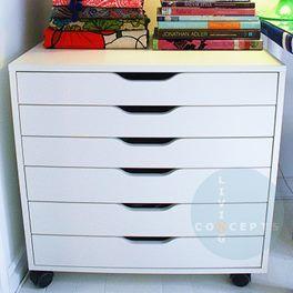 IKEA - ALEX plan drawers on castors (fit A2 paper)
