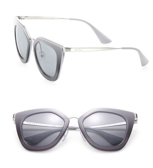 Prada 52MM Irregular Sunglasses Grey                 $59.00
