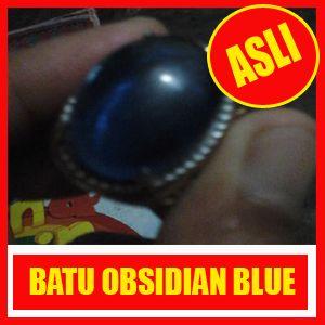 batu akik obsidian blue
