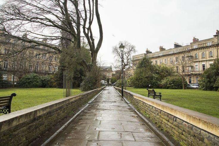 Victoria Square, Clifton, Bristol in the rain