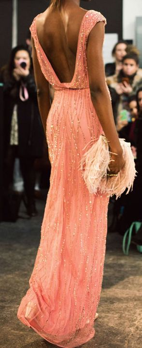 Coral gown  - Jenny Packham