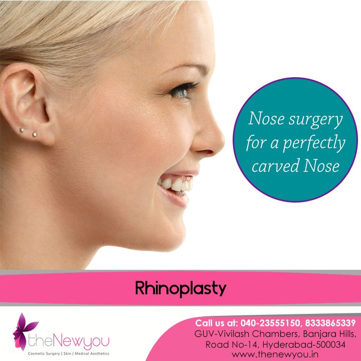 Now getting a perfectly #carvednose which is in symmetry with the rest of the facial features is very much possible with the #Rhinoplastysurgery from theNewyou.