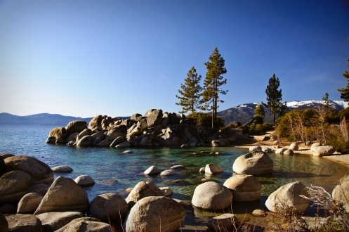 I want to go here so much...Lake Tahoe/Sand Harbor State Park