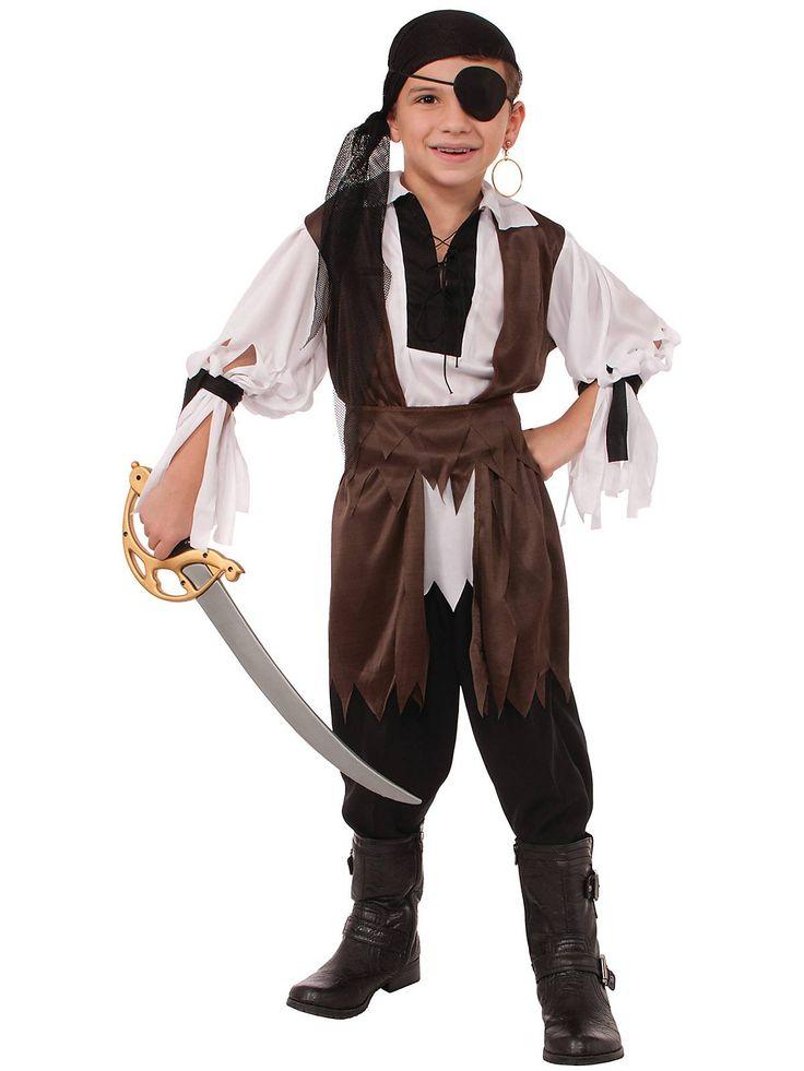 boys caribbean pirate costume cheap pirate halloween for boys - Halloween Pirate Costume Ideas