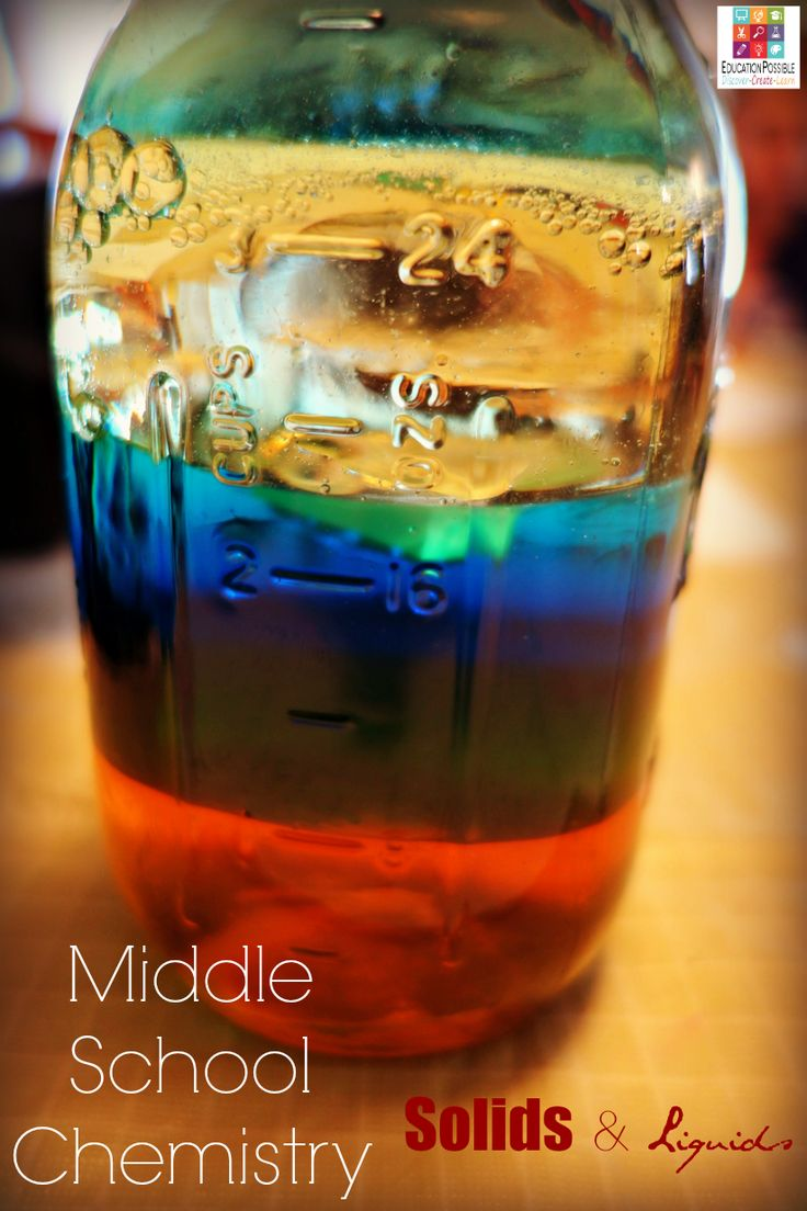 best th grade science fair projects ideas images  middle school chemistry solids and liquids education possible