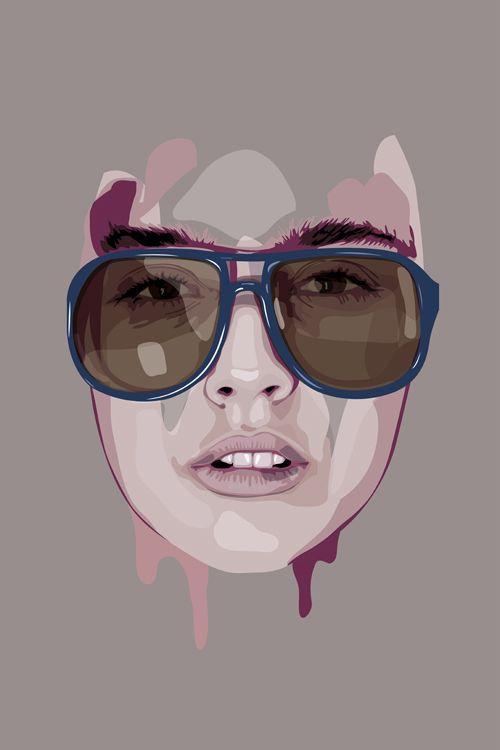 Vector face illustration, all made in Illustrator.