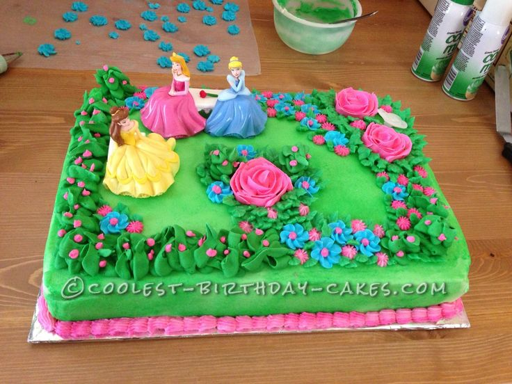 Garden Design Birthday Cake 278 best princess cakes images on pinterest | princess cakes