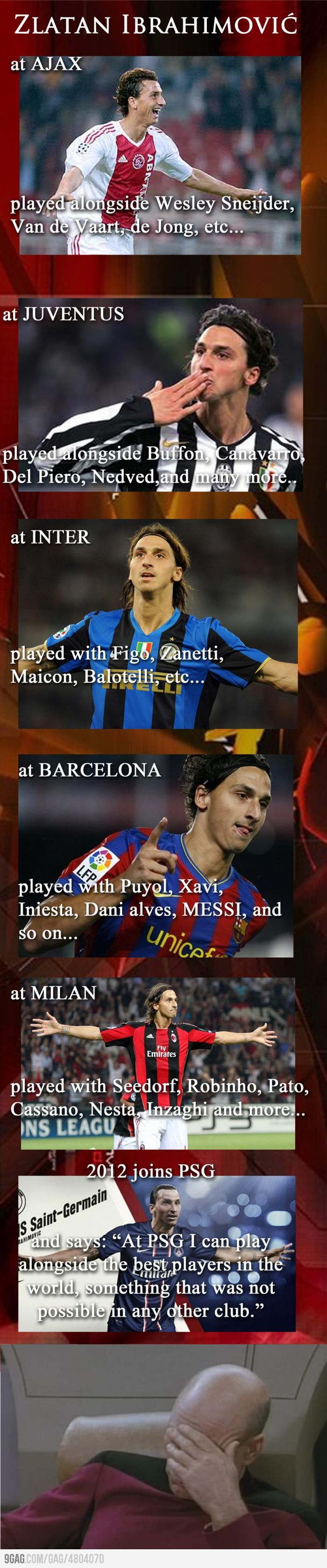 Zlatan Ibrahimovic.. Seriously?!