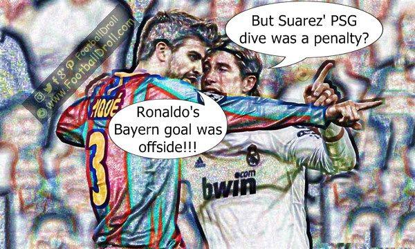 Gerard Piqué Rants About Ronaldo's Offside Goal Against Bayern #Pique #Ramos #Ancelotti #Zidane #RealMadrid #Bayern #CL #HalaMadrid #Suarez #Messi #Ronaldo #Neymar #Madrid #Barça #FCBarcelona #Bale #Jokes #Comic #Laughter #Laugh #Football #FootballDroll #Funny #CR7 #FCBLive #ForçaBarça #LaLiga