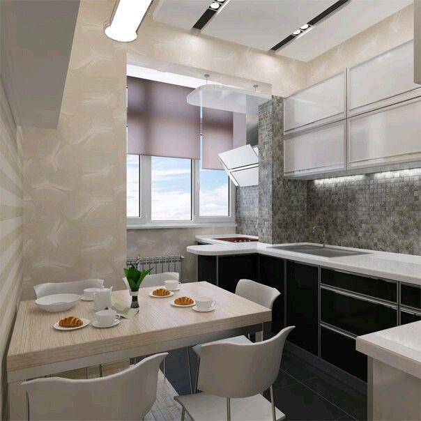 Объеденение кухни с балконом. Плита на балконе