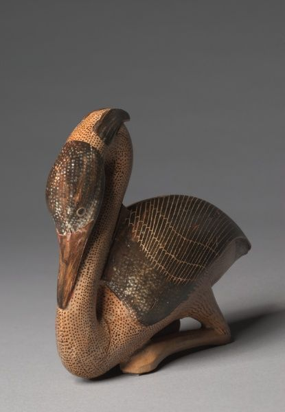 Heron Aryballos, c. 580 BC Greece, Milesian, Eastern province, 6th Century BC  earthenware with slip decoration