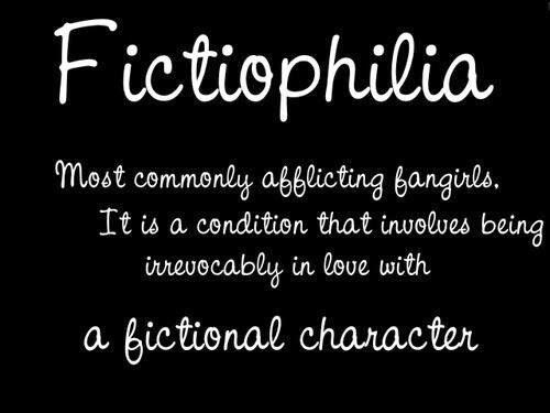 Image result for i fall in love with fictional characters