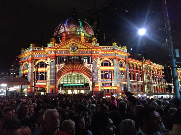 White Night 2014 Flinders Street Station, Melbourne, Australia