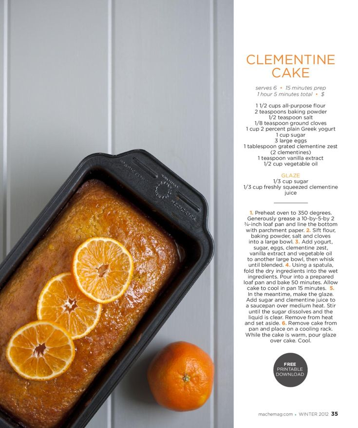 maché magazine-winter 2012 | Clementine Cake, Walter Mitty ...