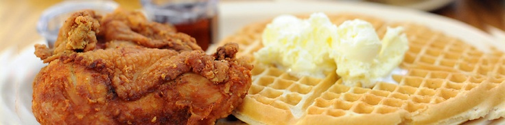 Roscoe's Chicken & Waffles! We are going here! This will be your ultimate disgusting american food challenge :p