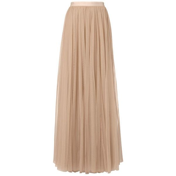 Needle & Thread Tulle Maxi Skirt ($240) ❤ liked on Polyvore featuring skirts, pink, beige maxi skirt, floor length skirt, tulle maxi skirt, maxi skirts and ankle length skirts