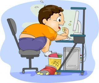Obesity: This is not only caused by eating fast foods, but can also be referred to as the extent of time which we spend at our desks in front of digital devices without maintaining a regular exercise regime (Digital Citizenship Module Manual, 2016: 143)
