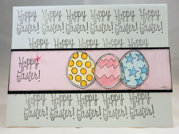 Easter eggs set! You can definitely make an EGGciting Easter card with this set! #joyclairstamps #crafting #easter