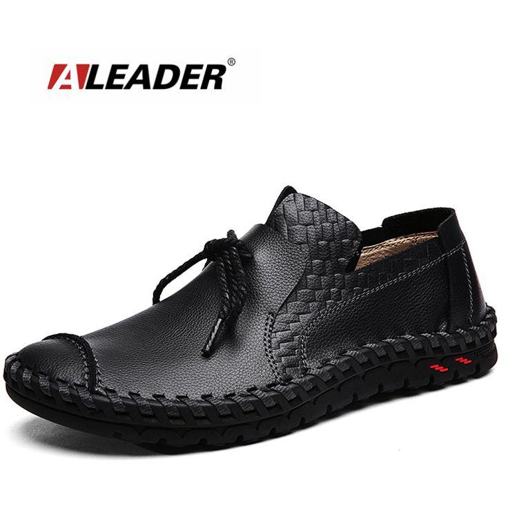 Mens Flats Schuhe Leder Casual Shoes Männer Loafers Frühling Mode Sneakers Männlich Boot Schuhe yZLXm