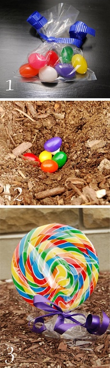 Plant some jelly beans for an Easter surprise!  Fun for the little ones.