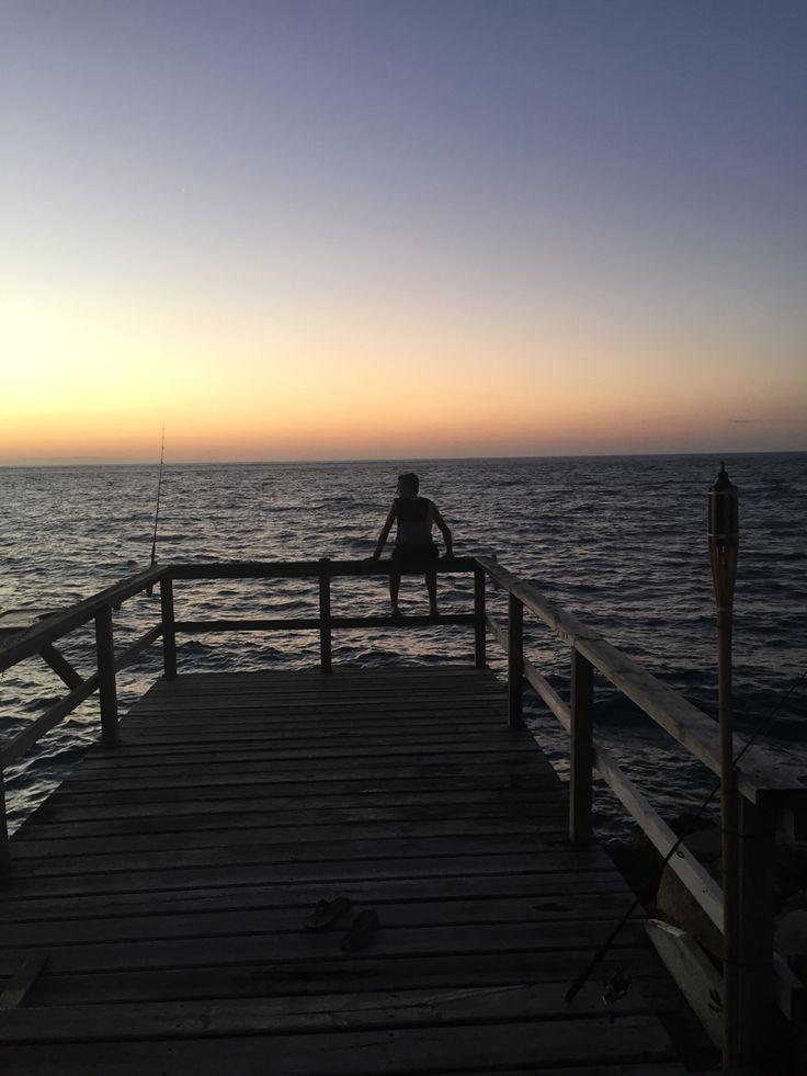 Nick at sunset Stradbroke Island