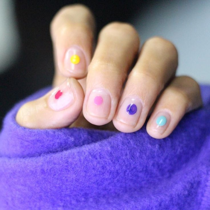 Mar 23, 2020 – nails with colored dots – nails with colored dots – #colored #dots #nails #springnails