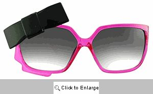 Dita Bow Sunglasses - 366 Fuschia/Black