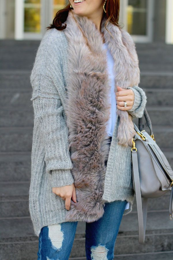 jillgg's good life (for less) | a west michigan style blog: my everyday style: 10 things making me happy right now! #fauxfur #freepeople #winteroutfit #falloutfit #easyoutfit #ootd #ankleboots #distressedjeans #chloe