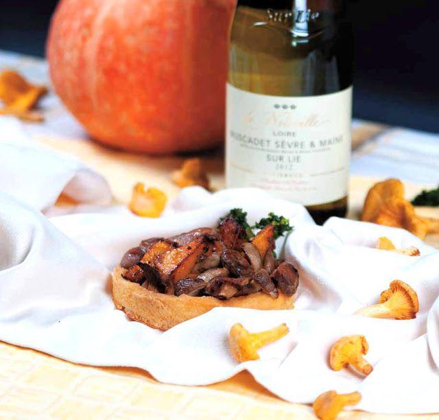 Wino i kuchnia: Minitarty z dynią i grzybami
