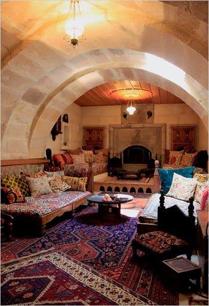 Laura Prusoff and Nurettin Mantars House built into Caves in TurkeyAfter watching Indiana Jones...