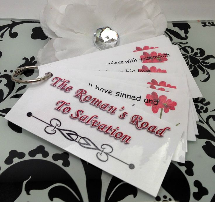 Roman's Road to Salvation Laminated Scripture Memory Cards. Great way to memorize God's word!