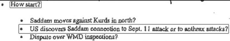 Newly-Released Memo by Donald Rumsfeld Proves Iraq War Started On False Pretenses  Posted on February 20, 2013