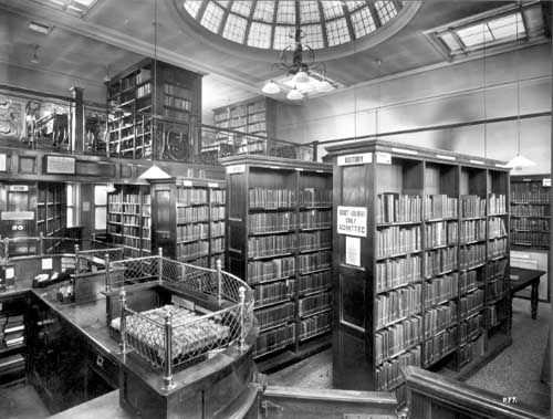 old Armley library interior