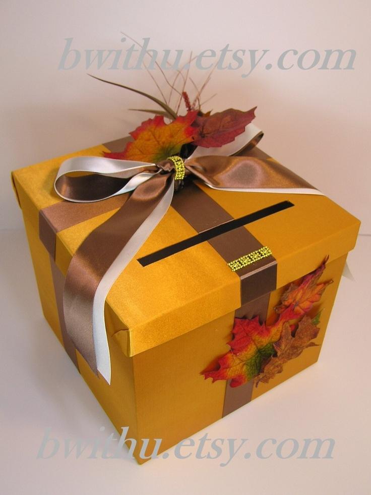 Fall Wedding Gift Card Box : Found on etsy.com