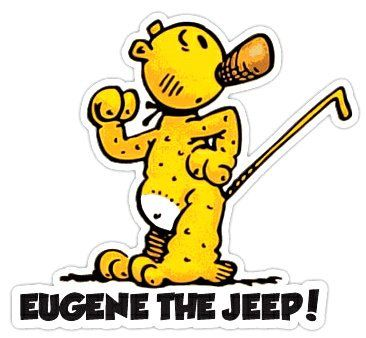 """Eugene the Jeep! - Decal - 4""""W x 3.5""""H"""