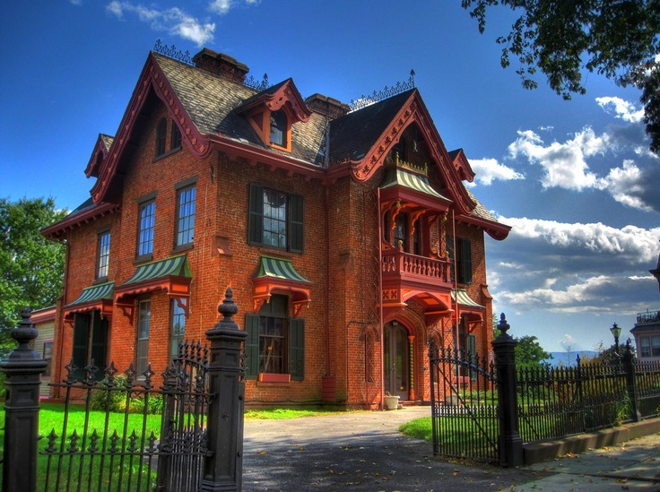 25 best andrew jackson downing images on pinterest andrew jackson vauxis stunning gothic revival home was inspired by the teachings of andrew jackson downing and proudly sits along montgomery ave in newburgh ny fandeluxe Image collections