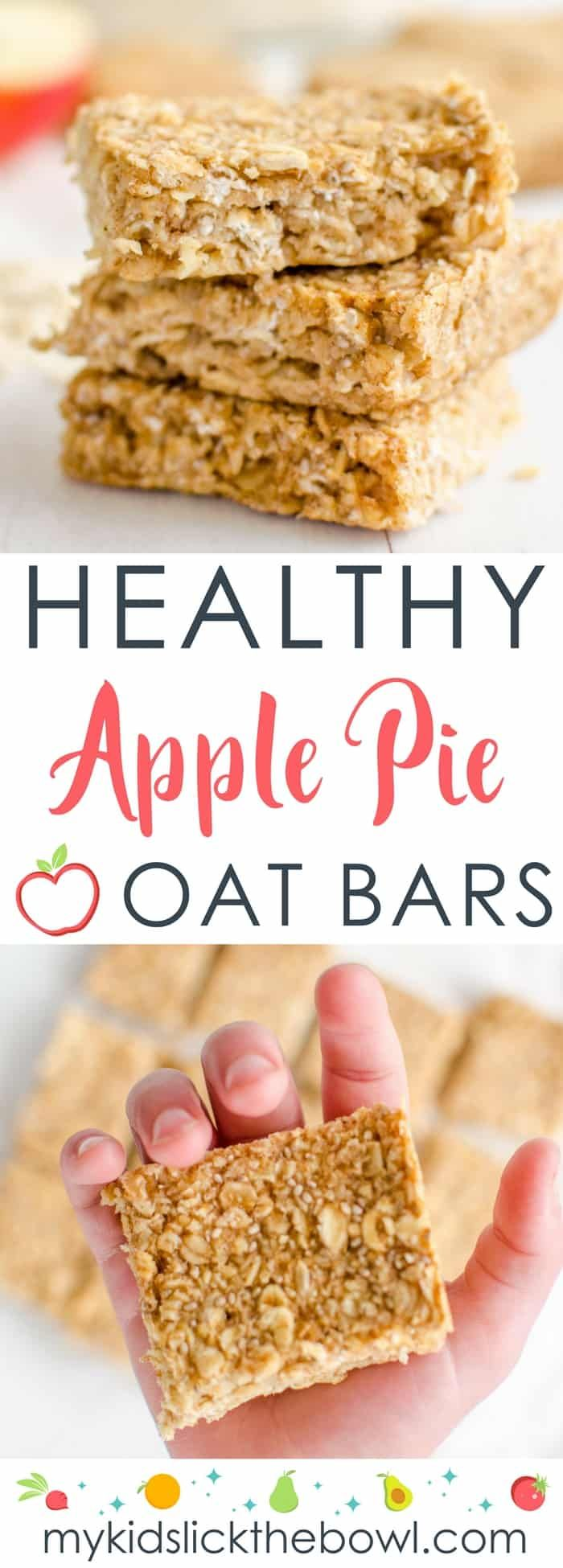 healthy oat bars, apple pie flavour an easy recipe perfect for kids toddlers and baby led weaning #healthysnack #babyledweaning