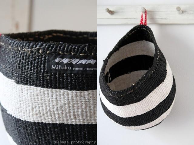 Mifuko's Kiondo basket. Looks good hung like this.