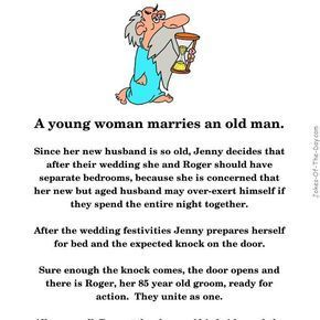 A young blonde and an old man get married - Funny Joke, old man joke