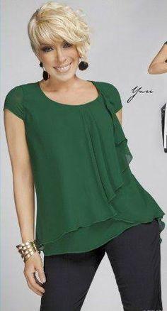 Resultado de imagem para blusas elegantes