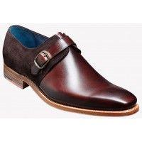 Barker Shoe Style: Jasper - Walnut Calf / Bitter Choc Suede