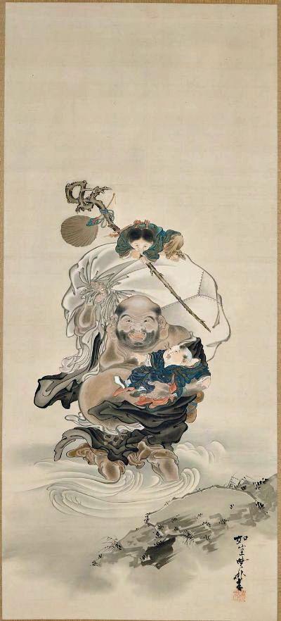 Hotei by Kawanabe Kyosai